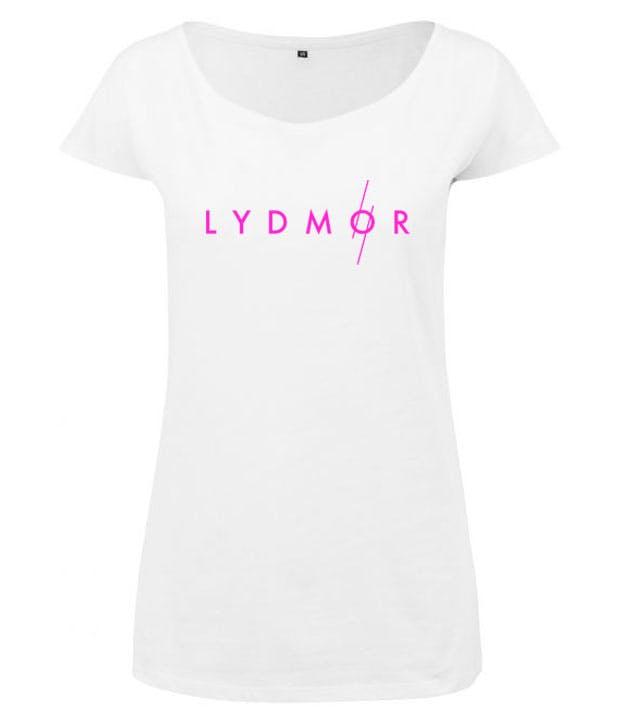 Hvid t-shirt med pink logo