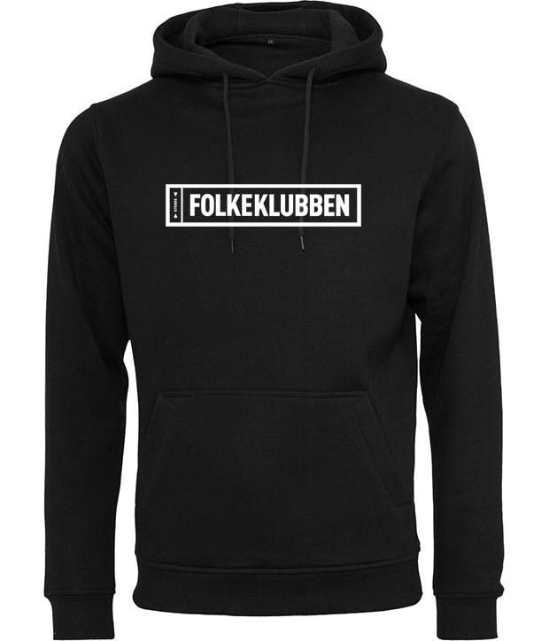 Folkeklubben hoodie med box logo