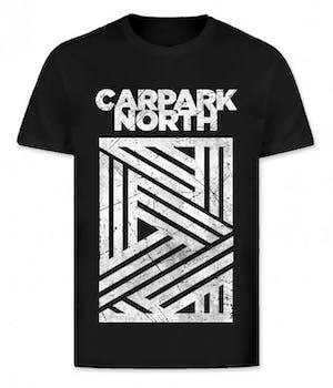 Sort Carpark North t-shirt med hvidt tryk